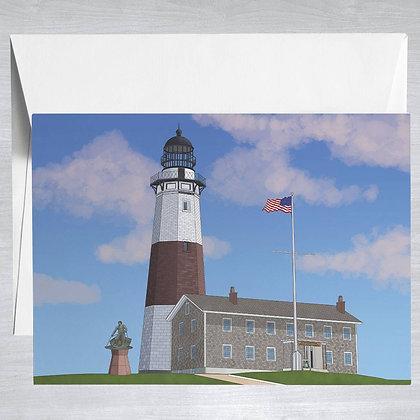 Montauk Point Lighthouse - Hamptons - Card