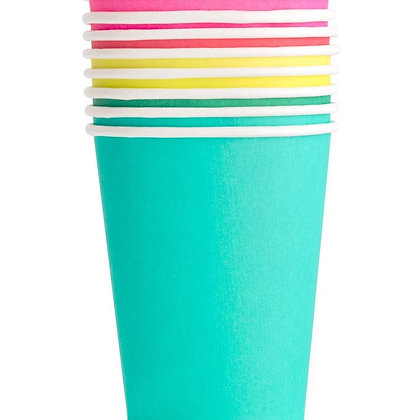 8oz cup set- Rainbow
