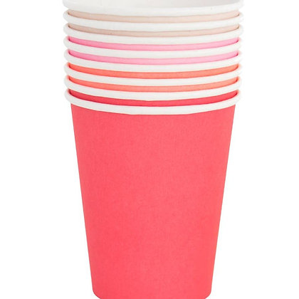 8oz cup set- Pretty in Pink