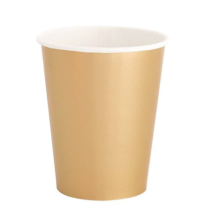 8oz cup- Gold