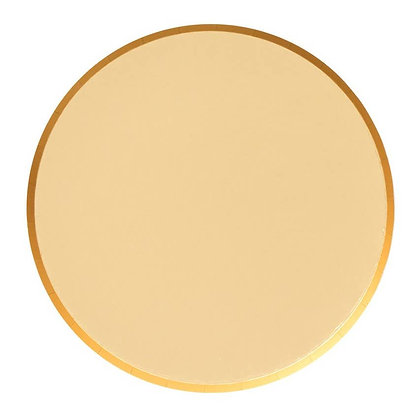 9in Plates - Gold