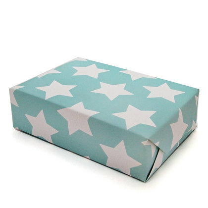 Star Wrapping Paper- Carnival Blue