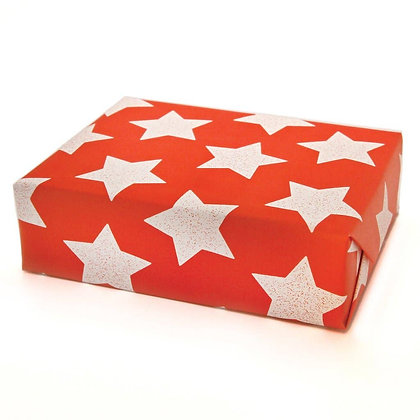 Star Wrapping Paper- Red Flame