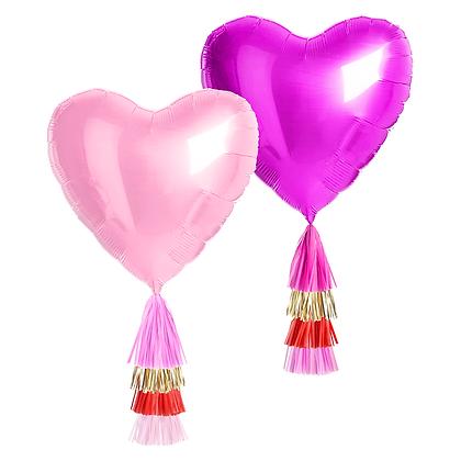 Jumbo Heart Balloon with Tassels