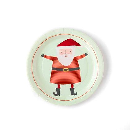 Holiday Santa Plate