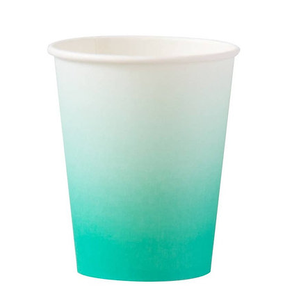 8oz cup- Teal Ombre