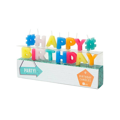 Party Time Happy Birthday Shaped Candles