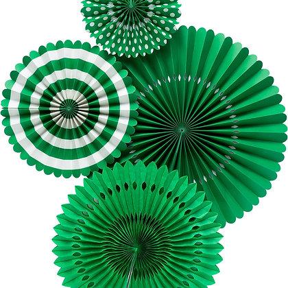 Basics Party Fans-Green