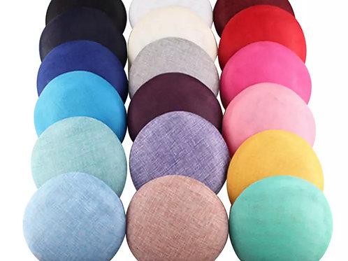 "Betty - Small 15cm (6"") Sinamay Button Hat Base - 18 C"
