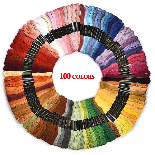 Embroidery Thread Floss Skein 24/36/50/100pcs Multi-Coloured