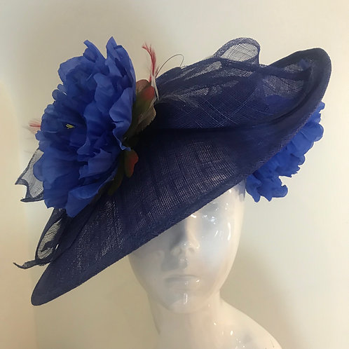 Royal Blue at the Races - Hat Couture