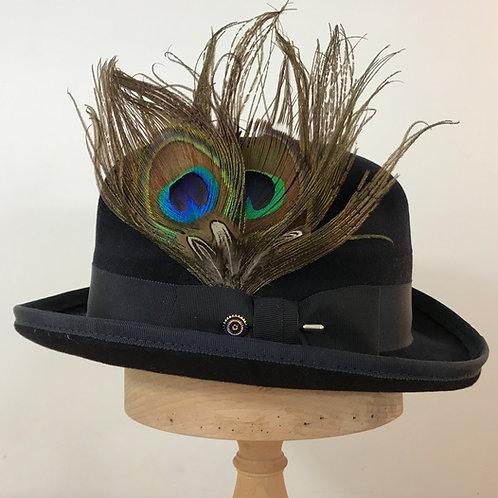 Peacock Strut - Obsidian Black