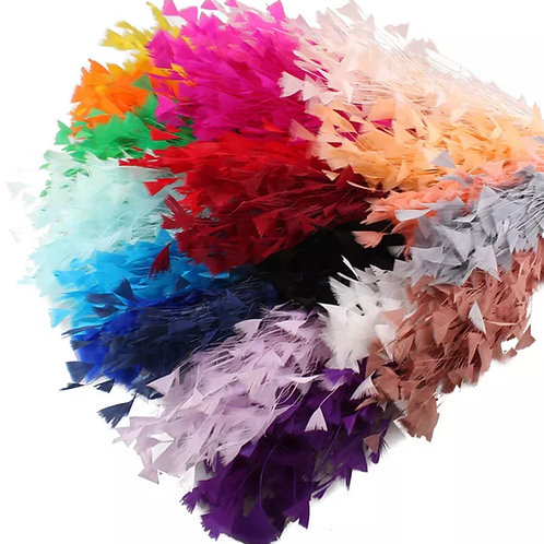 """Polly - Large Feather 23cm (10"""") Millinery Coq Plume Hat Mount - 16 Colours"""