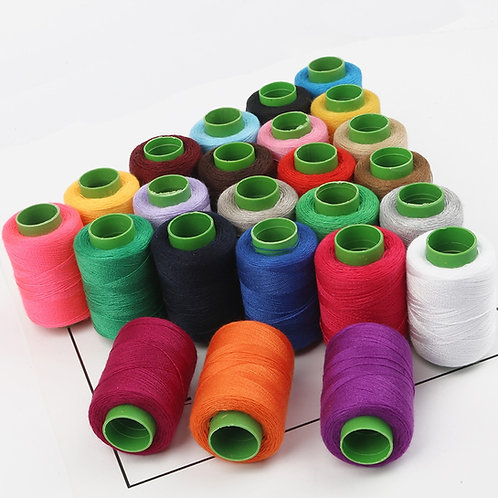1pc Strong Cotton Machine/Hand Sewing Thread 24 Colours