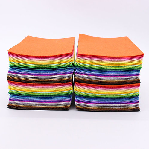 160pcs 1mm Thick A6 size Hard Felt Fabric (Mixed Colours) - Sewing /Craft