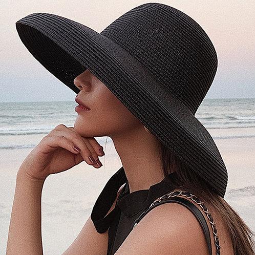 Elegant Wide Brim Straw Beach Hat Women