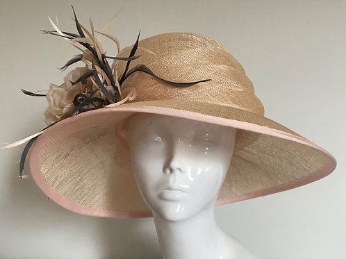 Champagne & Peaches - Hat Couture