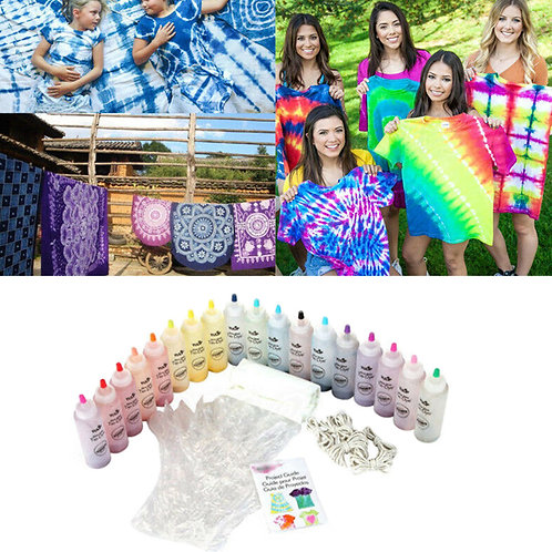 Non Toxic Fabric Tie Dye Kit Permanent Paint