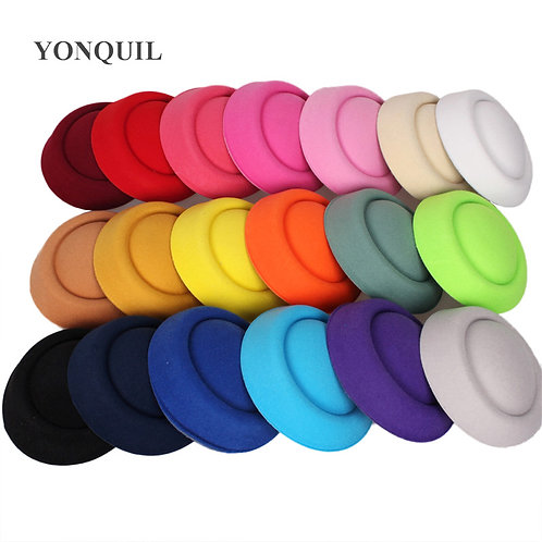 "6.3""(16 CM) 19 Colours Felt Fascinator Hat Bases"