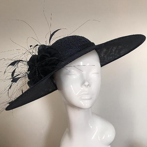 Navy Lace & Silk Stockings - Hat Couture
