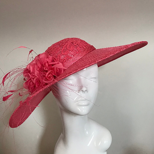 Coral Lace & Silk Stockings - Hat Couture