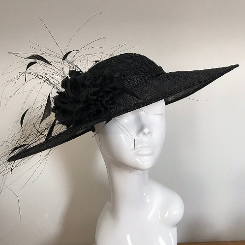 Black Lace & Silk Stockings - Hat Couture
