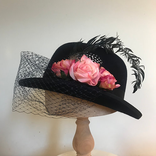 A Walk in the Park with Henri - Black/Pink Silk Roses