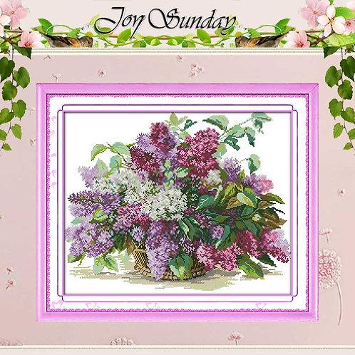 Lilac Counted Cross Stitch 11 14CT Cross Stitch Sets