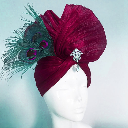 Dorothy & the Ruby Turban - Hat Couture