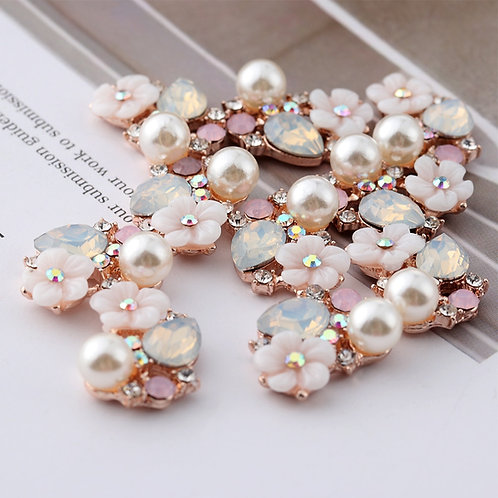 10pcs Flower Rhinestone  & Pearl Buttons Sewing/Crafts