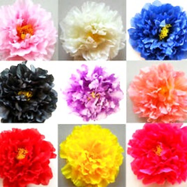 "'Penelope' Large Silk 17cm (7"") Millinery Peony Flower Hat Mount"