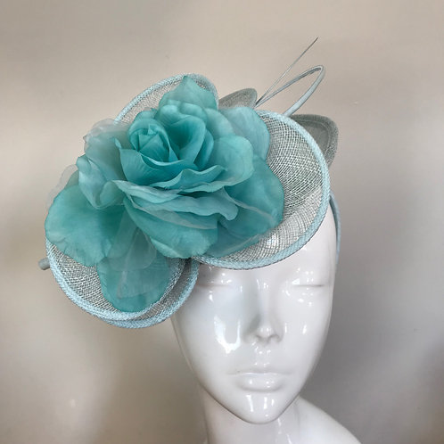 Blue Daisy Rose - Hat Couture