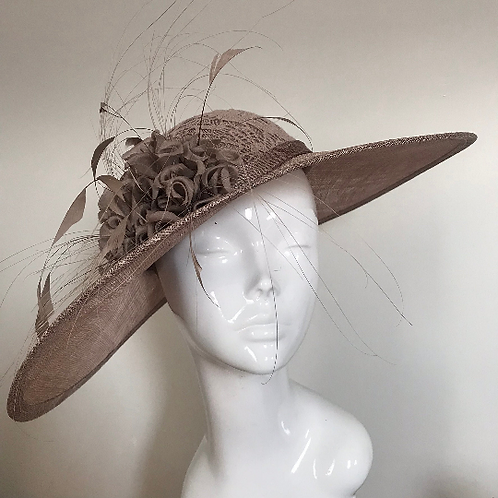 Mocha Lace & Silk Stockings - Hat Couture