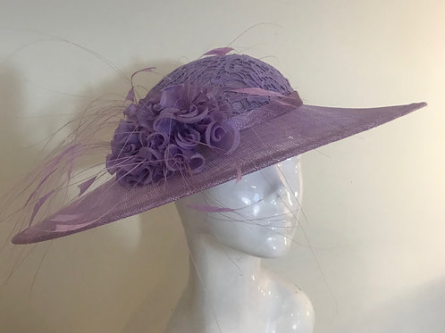 Lilac Lace & Silk Stockings - Hat Couture