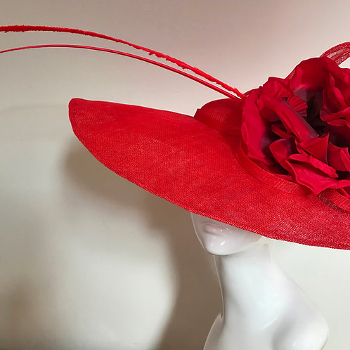 Poppy Red in Paris - Hat Couture