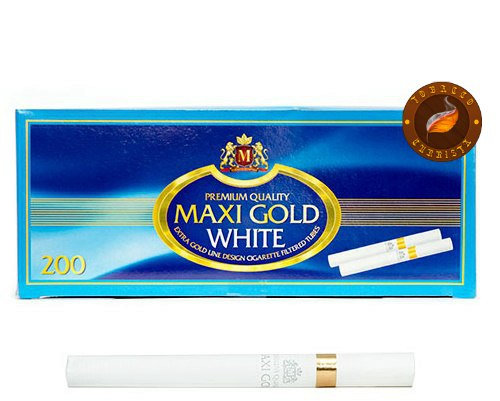 Сигаретные гильзы Maxi Gold White Premium (200 шт.)