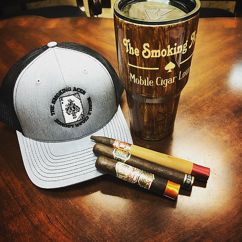Hat, Cup & 3 Mystery Cigars