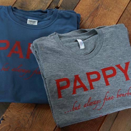 Men's T-shirt Pappy But Always Fine Bourbon in Dark Blue
