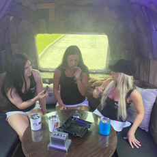 Reagan, Lael, and Auriel Smoking Aces Mobiles Cigar Lounge