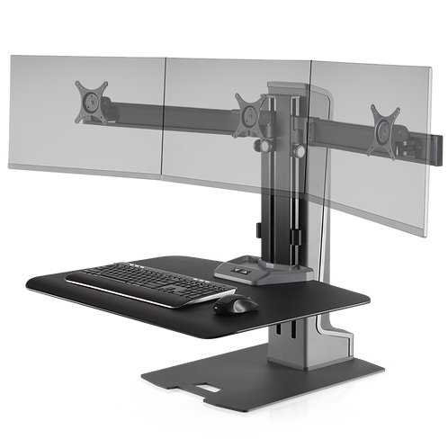 WNSTE-3 Winston-E Sit-Stand Workstation Triple Monitor Mount