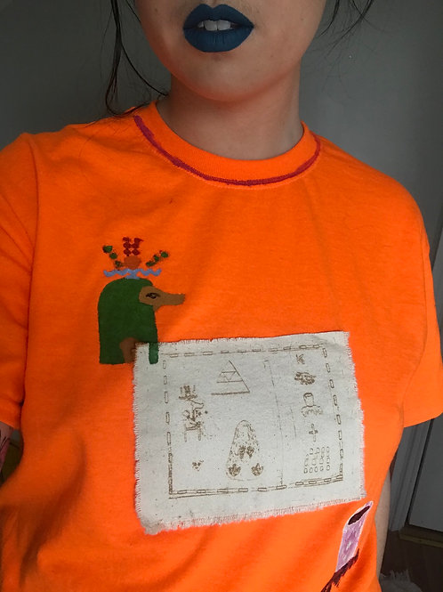 Lasercut Cult Tee with Patch