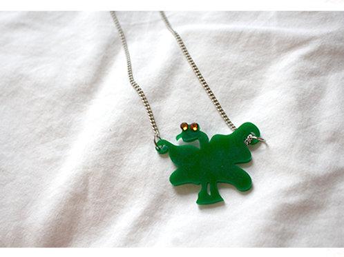 Diamond Eyed Dragon Necklace