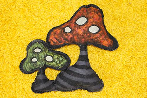 Painted Mushroom Pillow