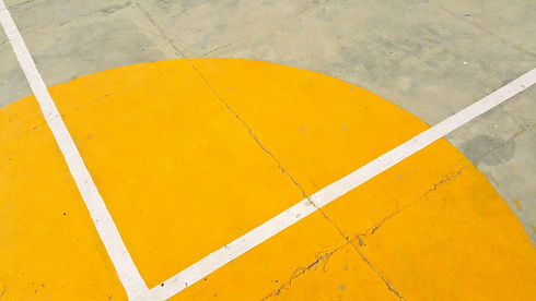 gray-concrete-pavement-with-yellow-and-w
