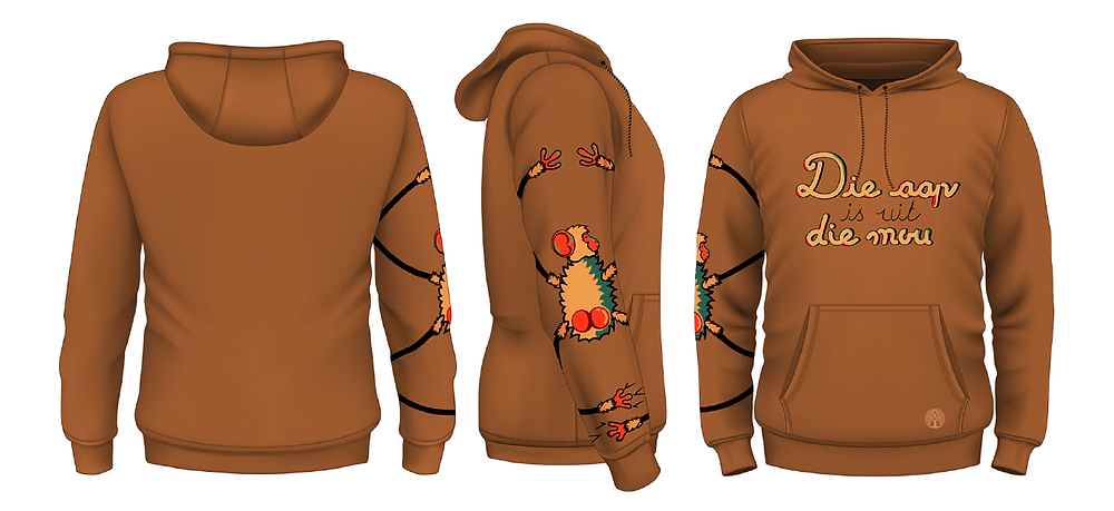 Maroela Die aap is uit die mou hoodie design