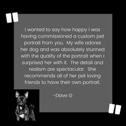 Dog Custom Pet Portrait Testimonial