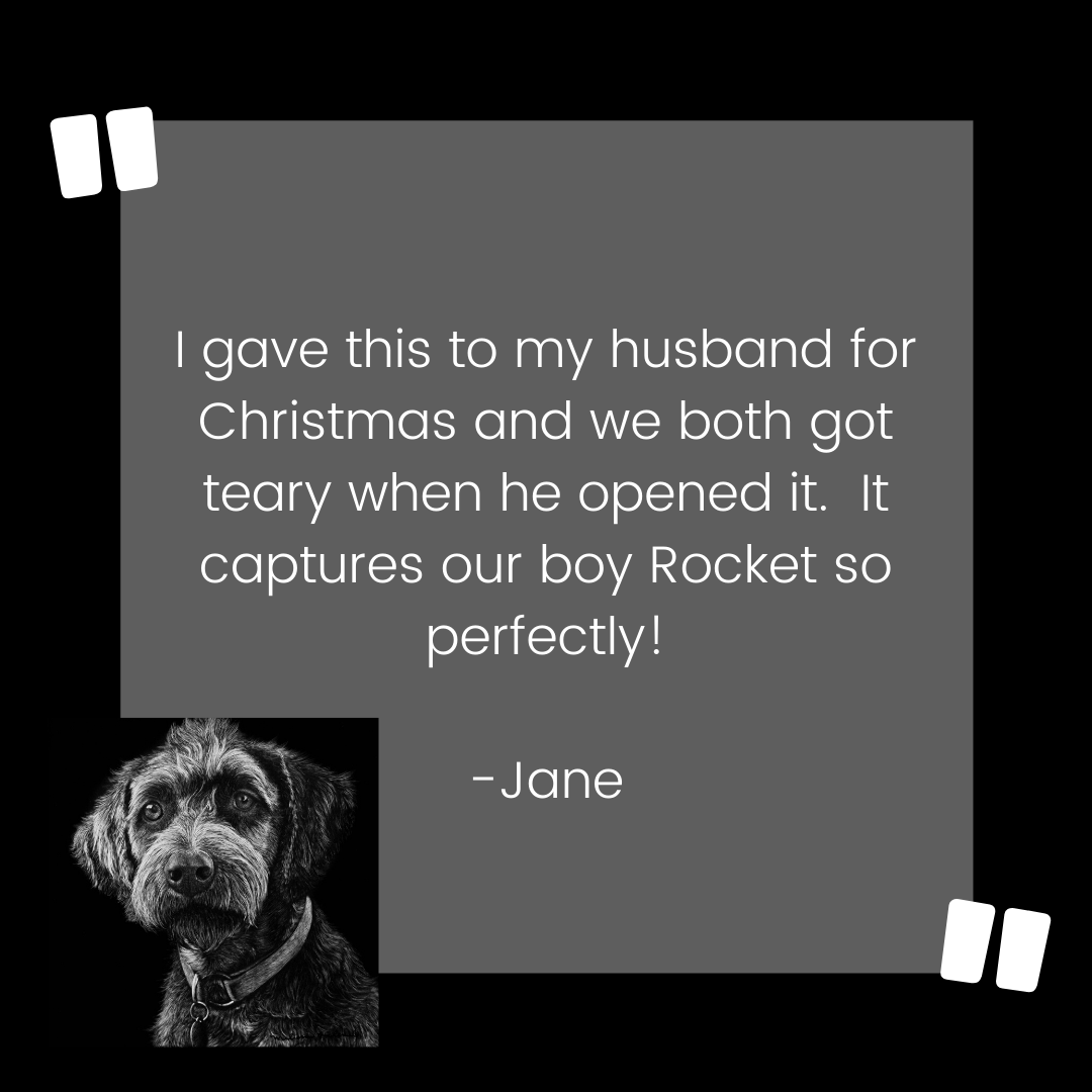 Dog Custom Pet Portrait Testimonial