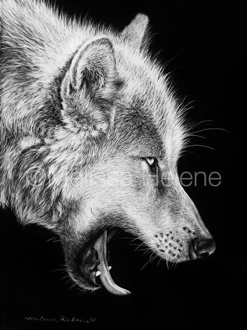 "Wolf | Original | 7""x5"""
