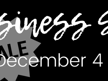 Small Business Saturday Sale | The Ins and Outs
