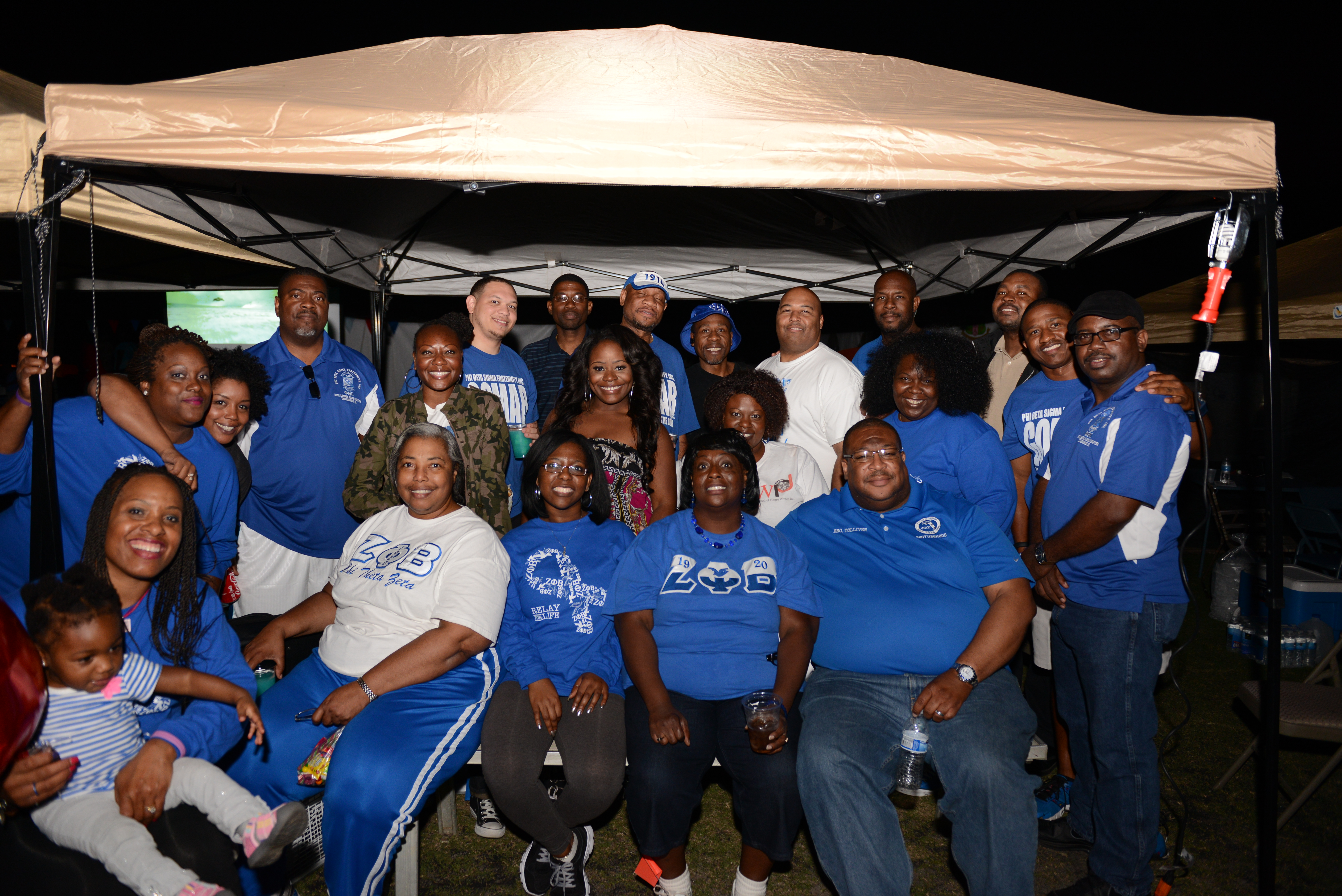 Blue & White invade Relay for Life